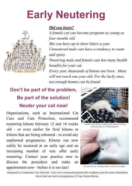 Early neutering poster
